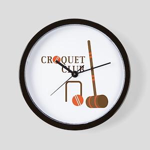 Croquet Club Wall Clock