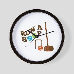 Run A Hoop Wall Clock