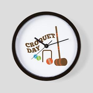 Croquet Day Wall Clock