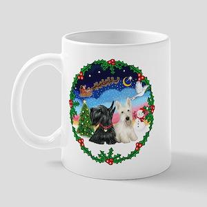 Santa's Take Off (2) = 2 Scotties Mug