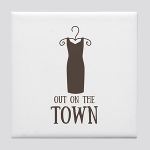 On The Town Tile Coaster