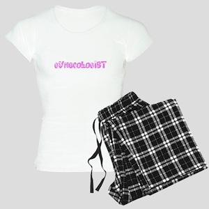 Gynecologist Pink Flower Design Pajamas