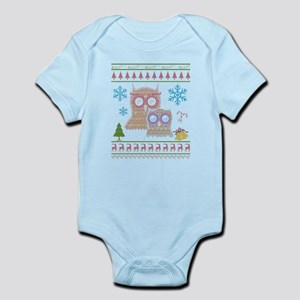 Owl Ugly Christmas Sweater Shirt Body Suit