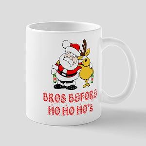 Santa And Rudolph Mugs