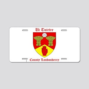 Ui Tuirtre - County Londonderry Aluminum License P
