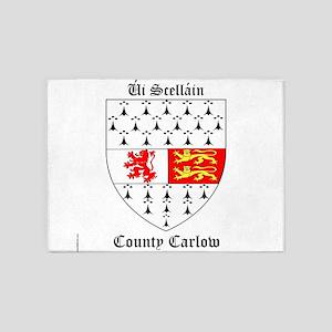 Ui Scellain - County Carlow 5'x7'Area Rug