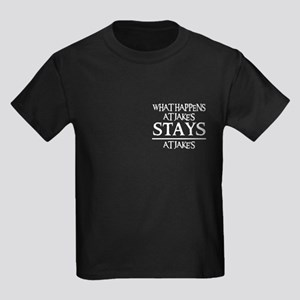 STAYS AT JAKE'S Kids Dark T-Shirt
