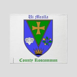Ui Mealla - County Roscommon Throw Blanket