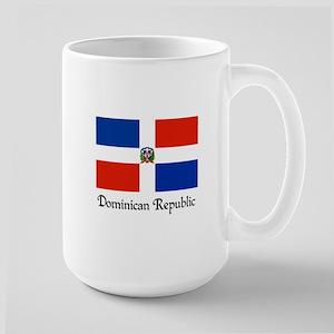 Dominican Republic Flag Design Large Mug