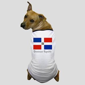 Dominican Republic Flag Design Dog T-Shirt