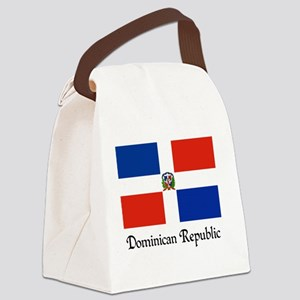 Dominican Republic Flag Design Canvas Lunch Bag