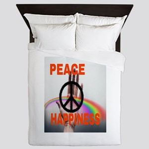 PEACE & HAPPINESS Queen Duvet