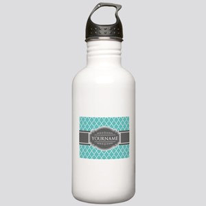 Turquoise and Gray Mor Stainless Water Bottle 1.0L