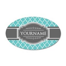 Turquoise and Gray Moroccan Wall Sticker