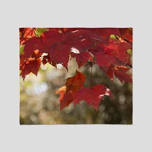 Fall Foliage Throw Blanket