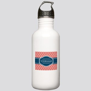Coral Moroccan Tiles L Stainless Water Bottle 1.0L