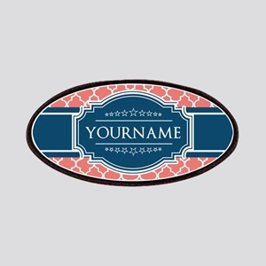 Coral Moroccan Tiles Lattice Personalized Patch