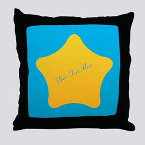 Cool Bright Star Throw Pillow