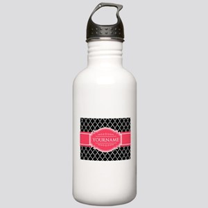 Black White Moroccan H Stainless Water Bottle 1.0L