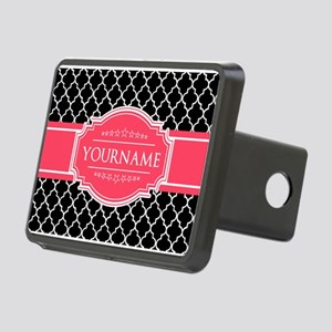 Black White Moroccan Hot P Rectangular Hitch Cover