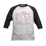 south carolina map of U.S. America Kids Baseball J