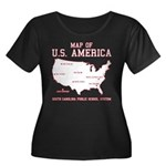 south carolina map of U.S. America Women's Plus Si