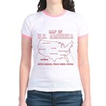 south carolina map of U.S. America Jr. Ringer T-Sh