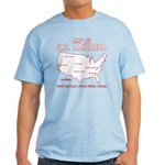 south carolina map of U.S. America Light T-Shirt