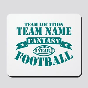 PERSONALIZED FANTASY FOOTBALL TEAL Mousepad