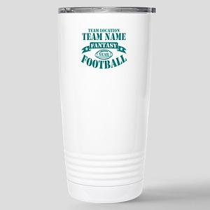 PERSONALIZED FANTASY FOOTBALL TEAL Travel Mug