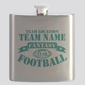 PERSONALIZED FANTASY FOOTBALL TEAL Flask