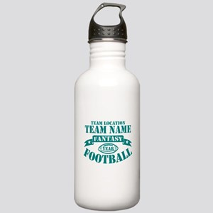 PERSONALIZED FANTASY FOOTBALL TEAL Water Bottle