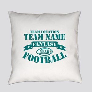 PERSONALIZED FANTASY FOOTBALL TEAL Everyday Pillow