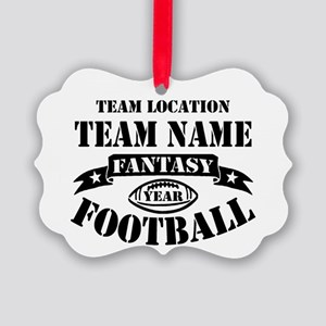 Your Team Fantasy Football Black Picture Ornament