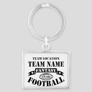 Your Team Fantasy Football Blac Landscape Keychain