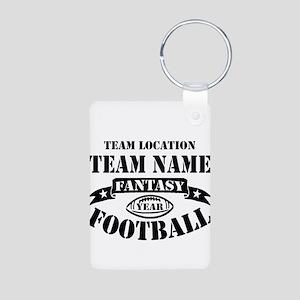 Your Team Fantasy Football Aluminum Photo Keychain