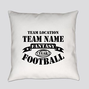 Your Team Fantasy Football Black Everyday Pillow