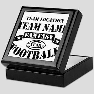 Your Team Fantasy Football Black Keepsake Box
