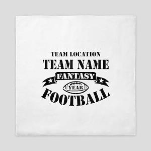 Your Team Fantasy Football Black Queen Duvet