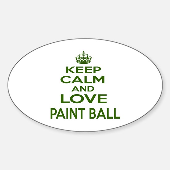 Keep calm and love Paint Ball Sticker (Oval)
