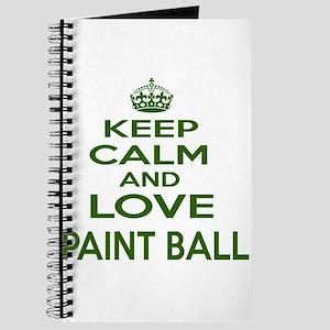 Keep calm and love Paint Ball Journal