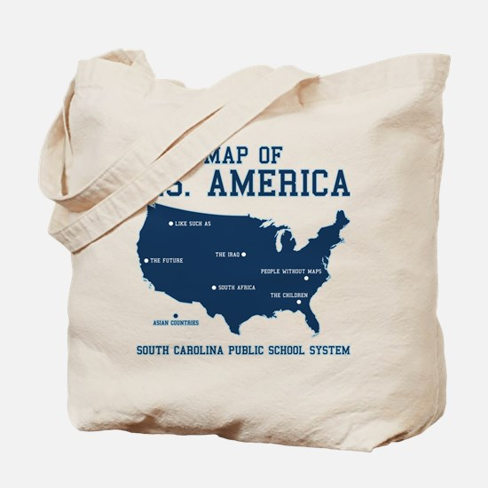 south carolina map of U.S. America Tote Bag