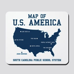 south carolina map of U.S. America Mousepad