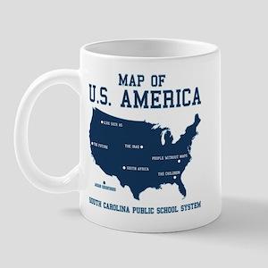 south carolina map of U.S. America Mug