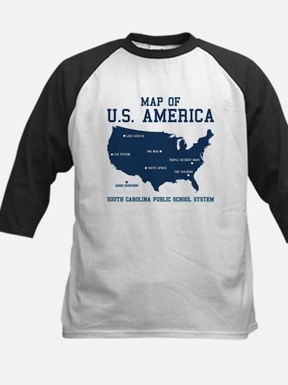 south carolina map of U.S. America Kids Baseball J