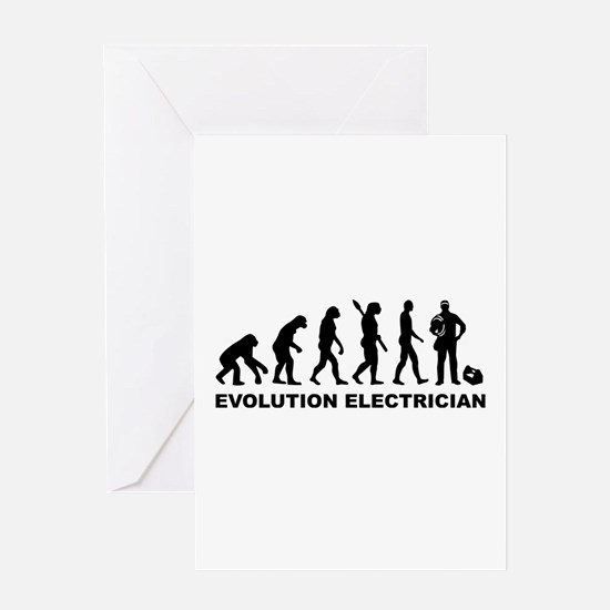 Evolution Electrician Greeting Card