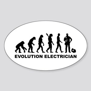 Evolution Electrician Sticker (Oval)