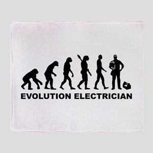 Evolution Electrician Throw Blanket