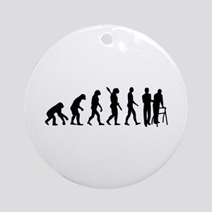 Evolution caregiver Round Ornament