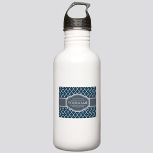 Moroccan Lattice Navy Stainless Water Bottle 1.0L